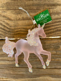 Kurt Adler Pink Glitter Unicorn Ornament