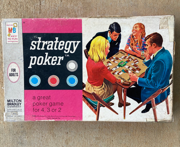 Vintage Strategy Poker Game by Milton Bradley 1967 Made in the USA