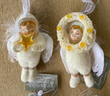 Winter White Angel Ornaments Set of 4