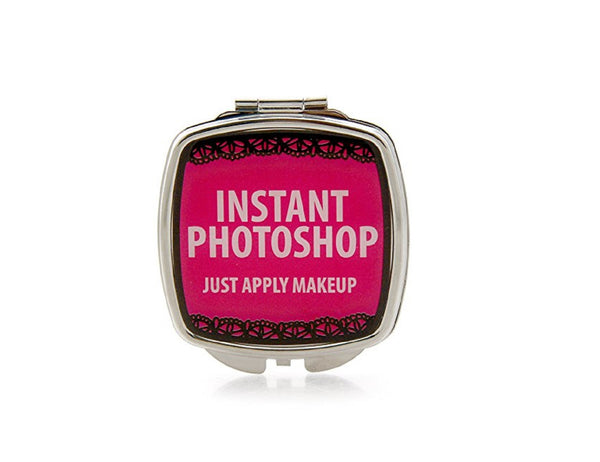 Our Name is Mud Pink Instant Photo Shop Funny Compact Pocket Mirror