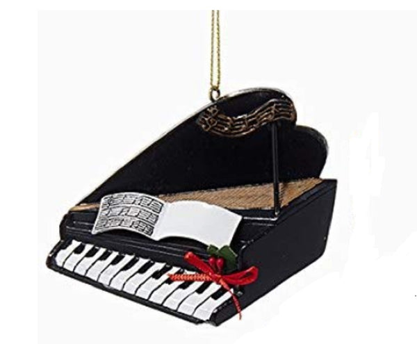 Kurt Adler Black Baby Grand Piano Christmas Ornament