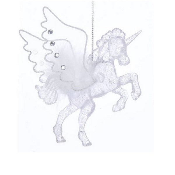 Glittered Translucent Acrylic Pegasus Ornament by Kurt Adler