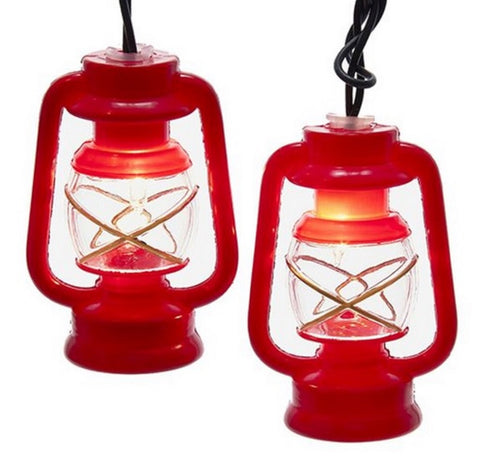 Light String Red Prospector Lantern 10 light String UL4309