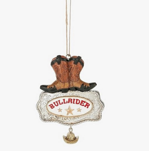 Midwest-CBK Bullrider Boots Buckle and Cowboy Hat Christmas Ornament