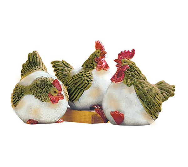 Fat Chickens Decor Birds Set of 3 by Midwest-CBK