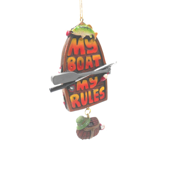 My Boat my Rules Boating Ornament by Midwest-CBK