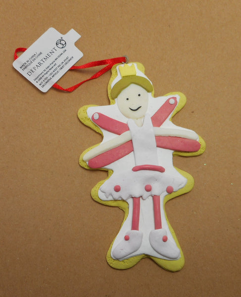 Dept 56 Pink Cookie Ballerina Ornament