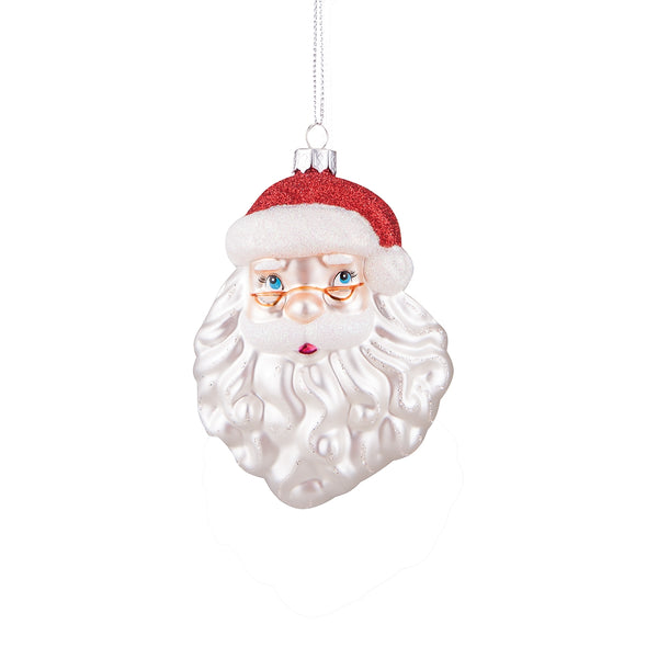 Santa Claus Head Hand Blown Glass Ornament by Gallarie II 72009