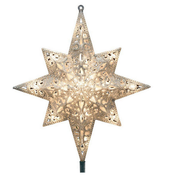 16 Lights Gold Bethlehem Start Tree Topper