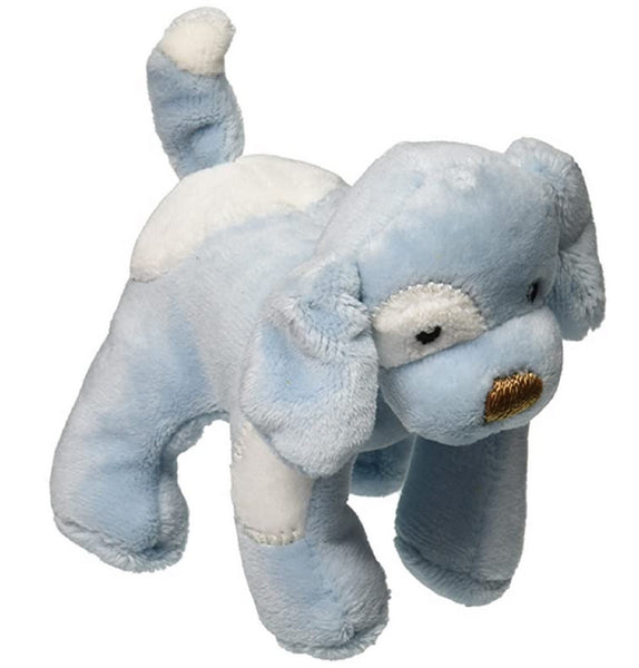 Gund Blue Spunky Puppy Plush Baby Rattle NWT 058493