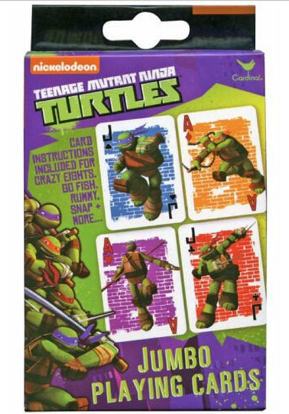 Nickelodean Teenage Mutant Ninja Turtles Jumbo Playing Cards