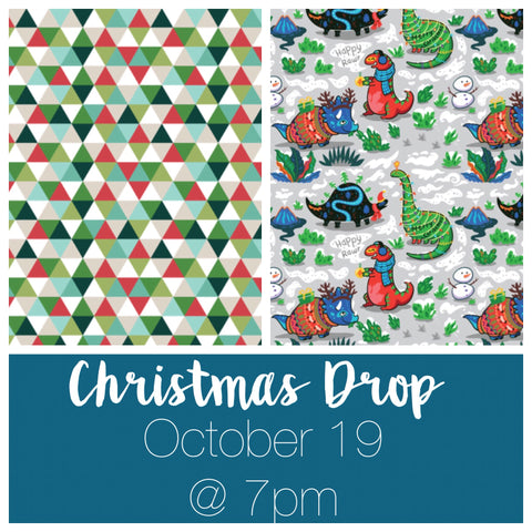 Seasonal Triangles and Christmas Dinos Drop - 10/19