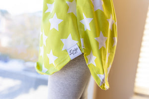 Lemon-Lime Stars - Big Kid Sizes - 6/8/10