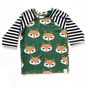 Fox Raglans - Elbow Sleeve - Ready To Ship