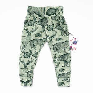 Green Animal Pocket Joggers - Ready To Ship