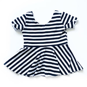 Basic Monochrome Stripe : Big Kid Sizes - 6/8/10