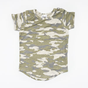 Ready To Ship - Oatmeal Camo Curved Hem T-Shirt