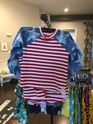 CLEARANCE - Stars/Stripes Raglan - RTS