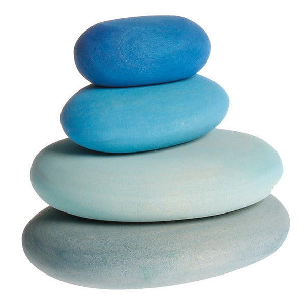 blue stacking stones