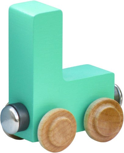 NameTrain Pastel Finish Letter Cars - L