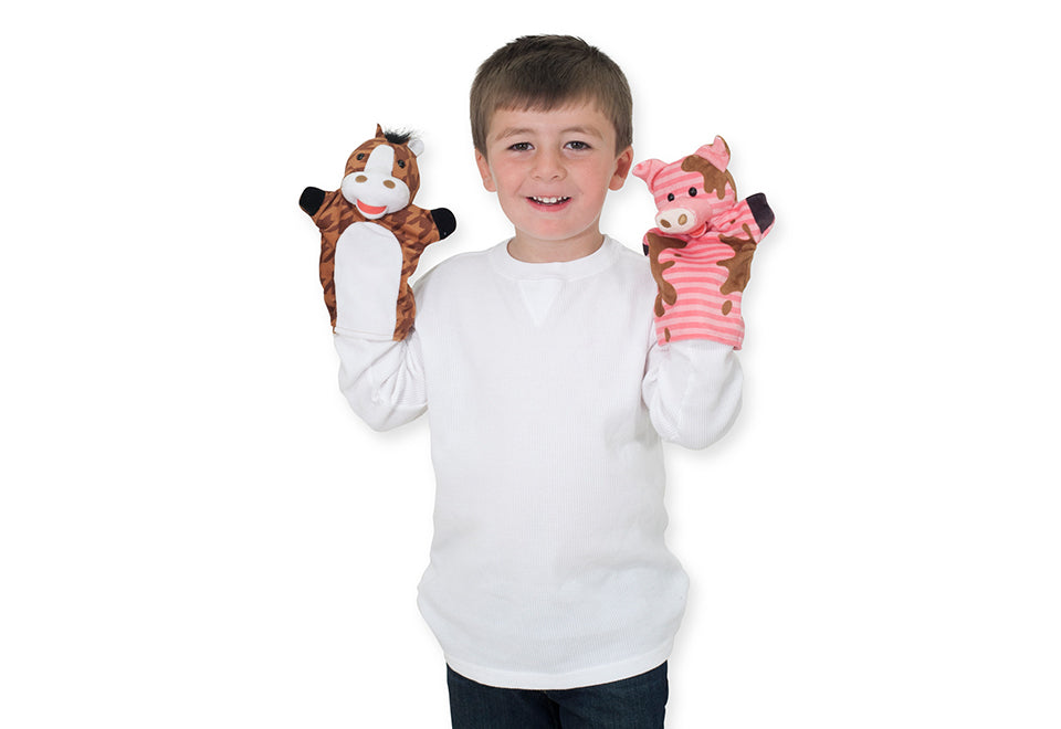 Farm Friends Hand Puppets - Set of 4