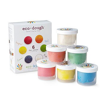 Eco-Dough (6 pk, Colored with Fruits, Plants, and Veggies)