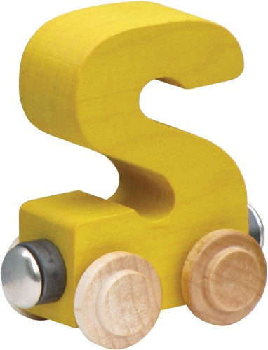 NameTrain Bright Finish Letter Cars - S