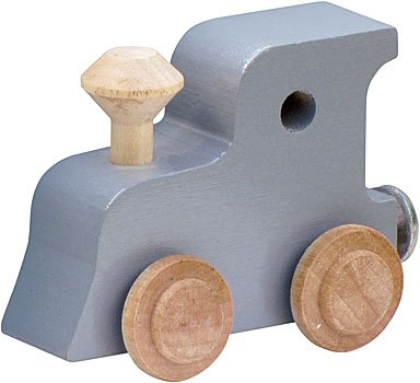 NameTrain Pastel Finish Letter Cars - Engine