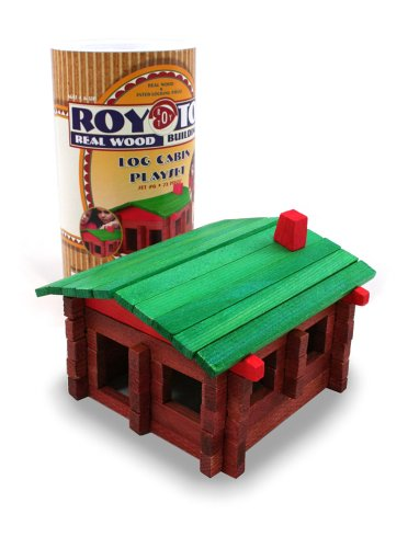 Roy Toy Real Wood Building Set