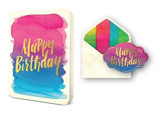 Deluxe Card Set: Foil Happy Birthday