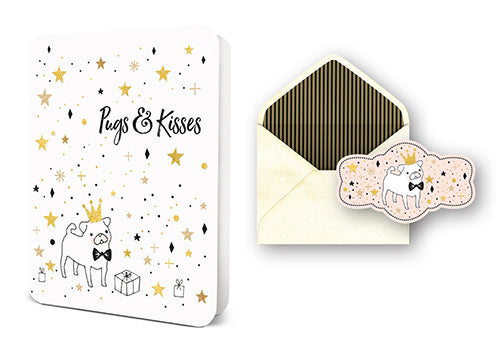 Deluxe Card Set: Pugs & Kisses