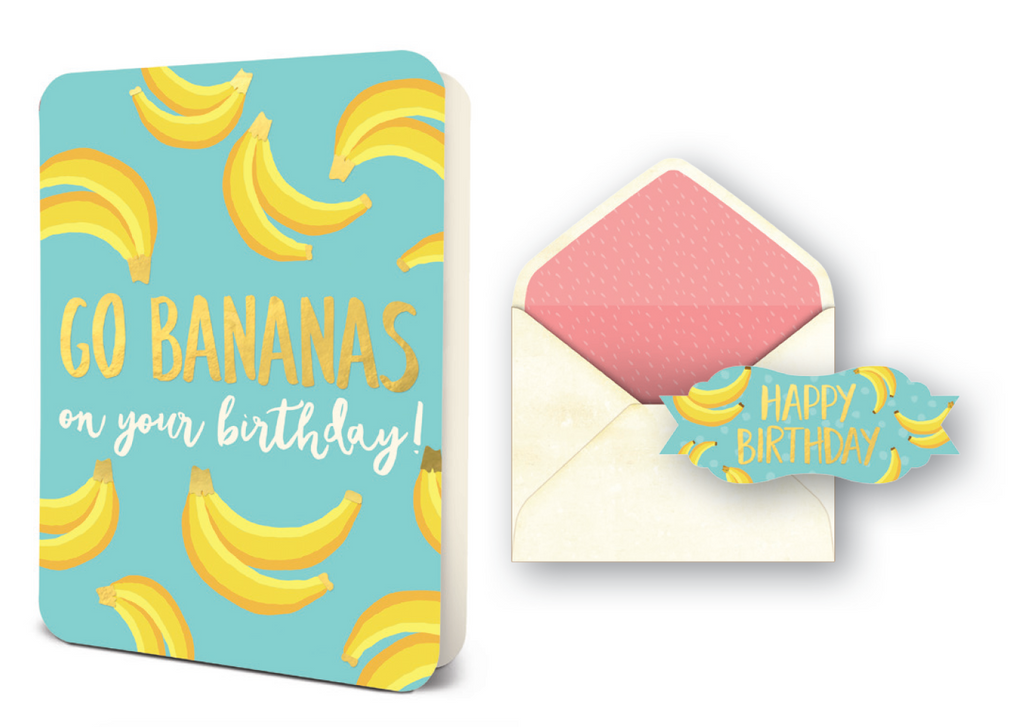 Deluxe Card Set: Go Bananas Birthday