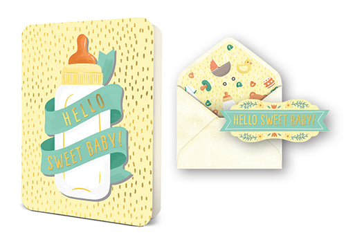 Deluxe Card Set: Hello Sweet Baby Bottle