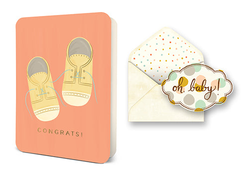 Deluxe Card Set: Baby Shoes