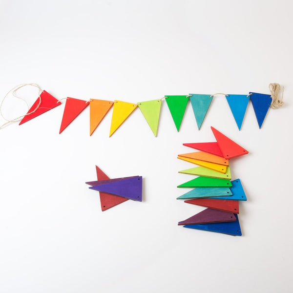 Grimm's Pennant Banner, rainbowcolours
