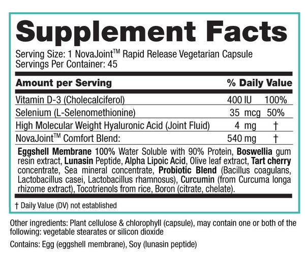 NovaJoint Supplement Facts