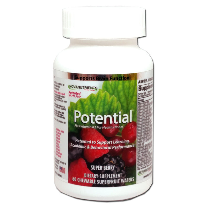 Potential - The Only Product Patented for Learning, Academic Performance & Behavior, 60 Chewables-NovaNutrients.com