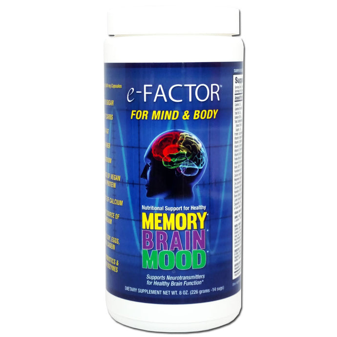 e-Factor Brain Supplement for Cognitive Function, Memory & Mood, 14 Servings-NovaNutrients.com