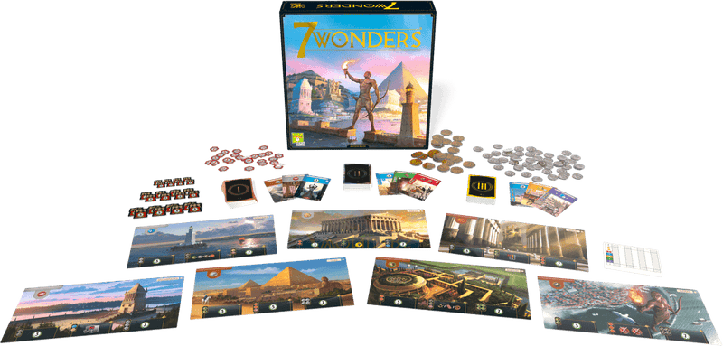 7 Wonders 2nd Edition Repos Production, Board Games Beanie Games
