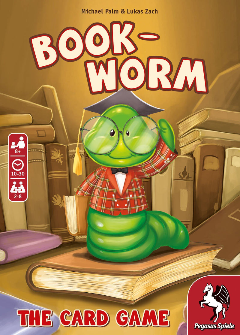 Bookworm - The Card Game Pegasus Spiele, Board Games Beanie Games