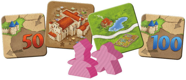 Carcassonne Expansion 1: Inns & Cathedrals Z Man Games, Board Games Beanie Games