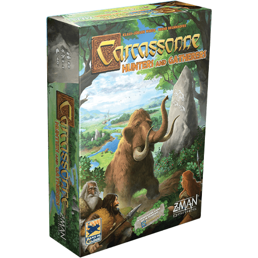 Carcassonne: Hunters and Gatherers (Refresh) Z Man Games, Board Games Beanie Games