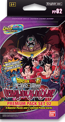 DBSCG Unison Warrior Series: Vermilion Bloodline Premium Pack Set 02 (PP02) Bandai, Dragonball Super Beanie Games
