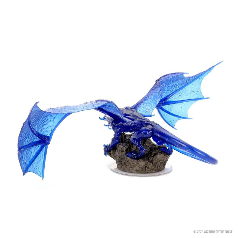 D&D Icons of the Realms: Sapphire Dragon Premium Figure Wiz Kids LLC, RPG Miniatures Beanie Games