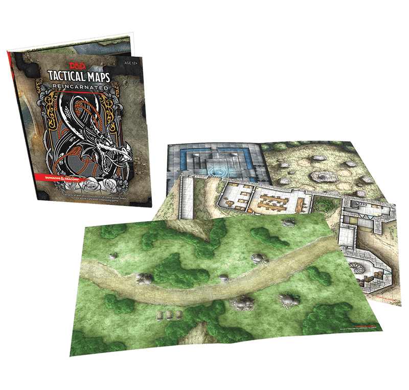 D&D Tactical Maps Reincarnated: Dungeons & Dragons Wizards Of The Coast, RPG Accessories Beanie Games