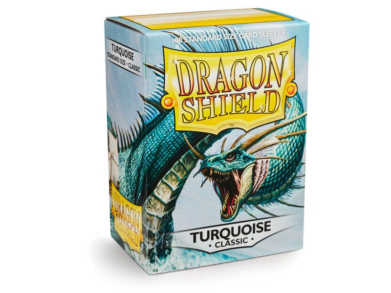 Dragon Shield Standard Classic Turquoise Sleeves (100) Arcane Tinmen, CCG Accessories Beanie Games