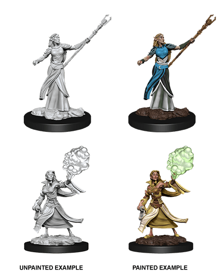 Female Elf Sorcerer: D&D Nolzur's Marvelous Unpainted Miniatures (W12) Wiz Kids LLC, RPG Miniatures Beanie Games