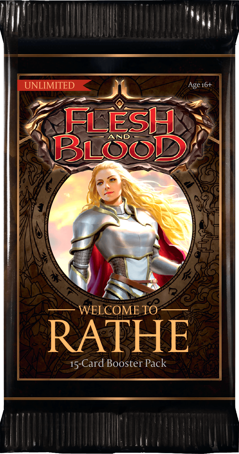 Flesh And Blood TCG: Welcome to Rathe Unlimited Booster Pack Legend Story Studios, Flesh And Blood TCG Beanie Games