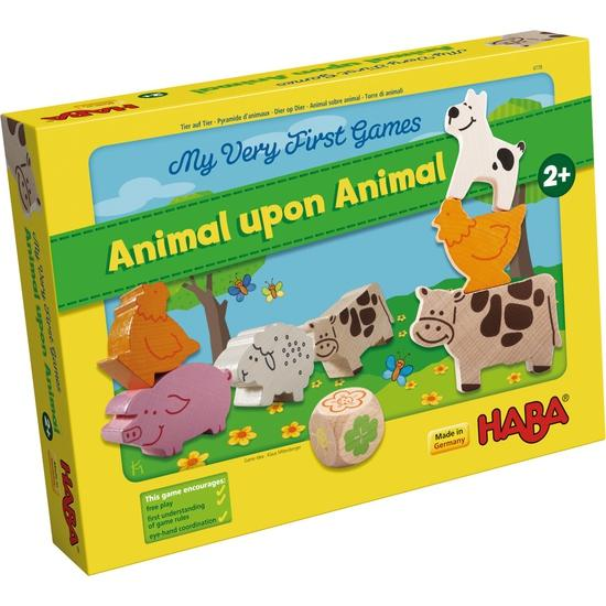 HABA My Very First Games: Animal upon Animal Haba, Board Games Beanie Games