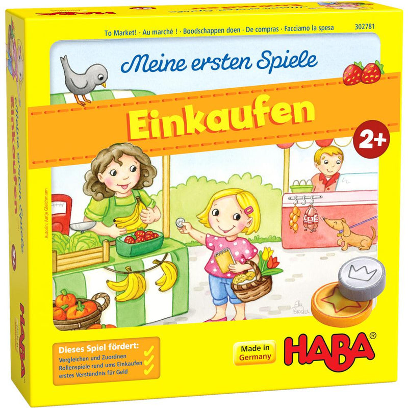 HABA My Very First Games: To Market! Haba, Board Games Beanie Games